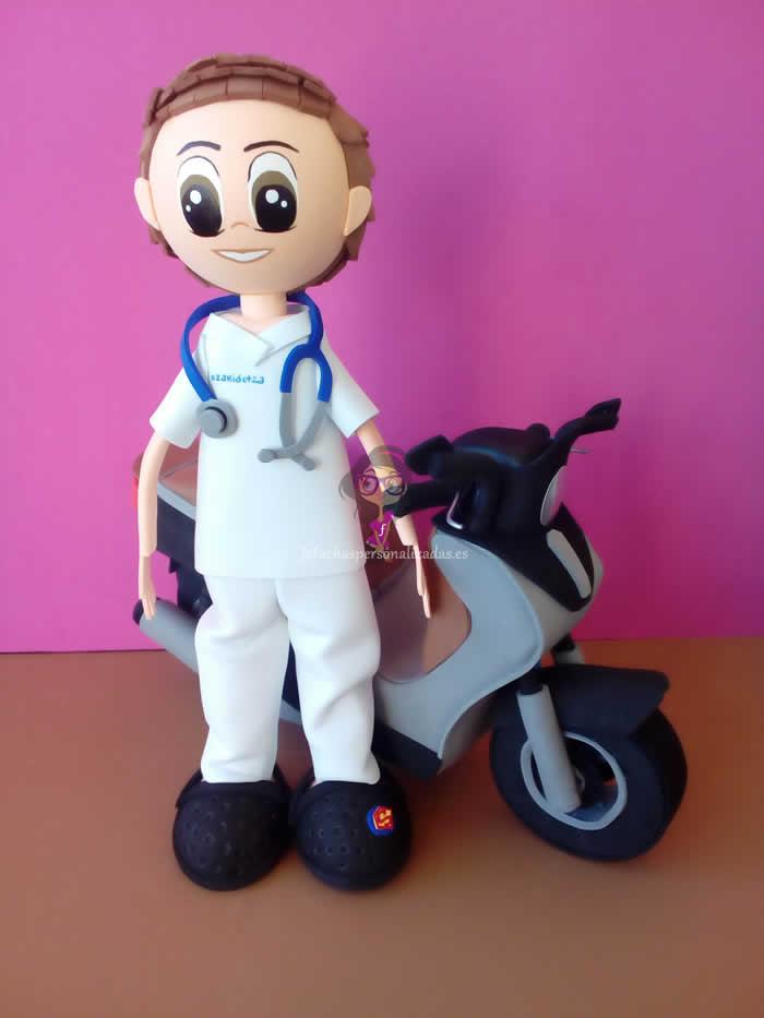 Fofucha Médico con Moto